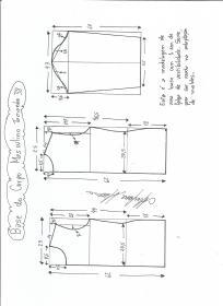 Esquema de modelagem de Base do Corpo Masculino tamanho 38.