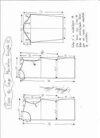 Esquema de modelagem de Base do Corpo Masculino tamanho 42.