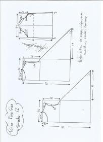 Esquema de modelagem de Túnica Plus Size tamanho  62.