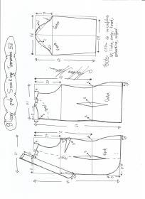 Esquema de modelagem de Blazer Smoking tamanho 52.