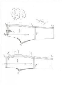 Graduação de molde de calça comprida.