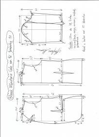 Esquema de modelagem de blazer alfaiataria com gola em pé tamanho 40.