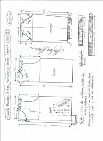 Esquema de modelagem de jaqueta bomber, college, americana ou varsity tamanho EXGG.