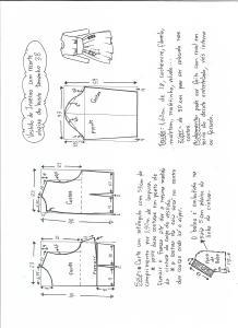 Esquema de modelagem de vestido tamanho 38.
