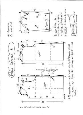 Esquema de modelagem de dolma tamanho G.