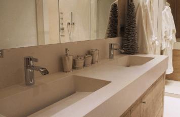 Lavelli monolitici in Limestone con scarico a scomparsa