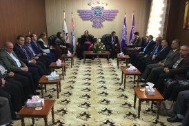 زيارة الخوري فيليبوس لمقر الحركة الديمقراطية الاشورية في دهوك