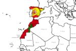 Mapa Marruecos y Espana
