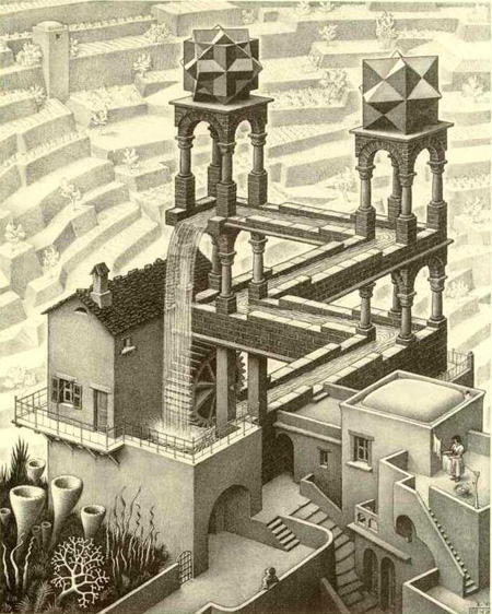 Waterfall - M. C. Escher