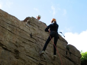 Slow and steady on the abseil
