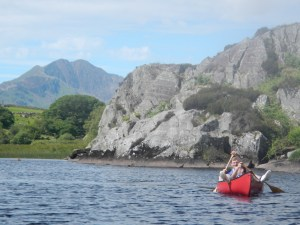 Laid back paddling with Snowdon in the distance