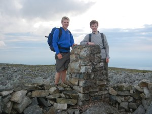 Foel Fras at 8.29pm - 15hrs 39mins after we started at Crib Goch