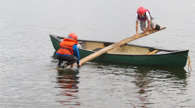 Building confidence on the canoe see-saw