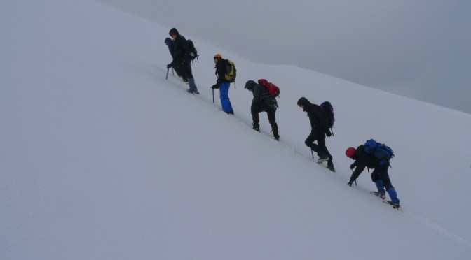 Heading up the back wall of Coire an Lochain