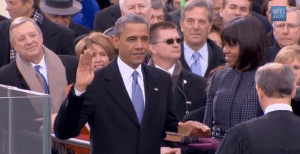 president obama oath of office inauguration