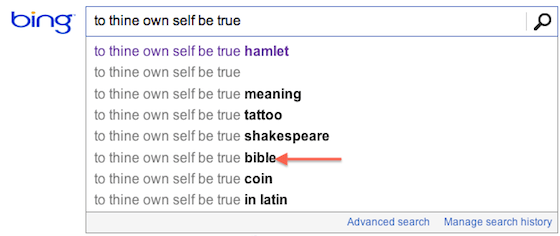 Shakespeare, not Scripture