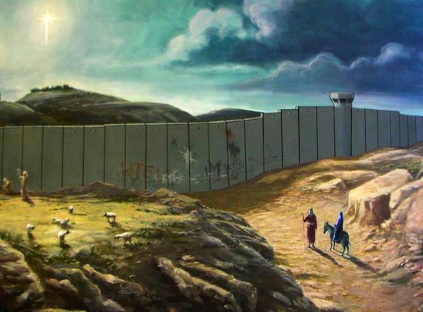 Banksy Bethlehem Christmas card