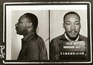 Martin Luther King, Jr.'s Birmingham, AL mugshot, April 12, 1963.
