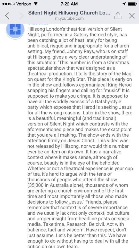 Hillsong explanation