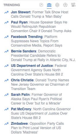 Politics trending