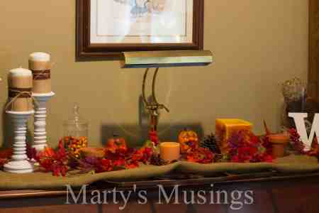 fall decor in living room 15