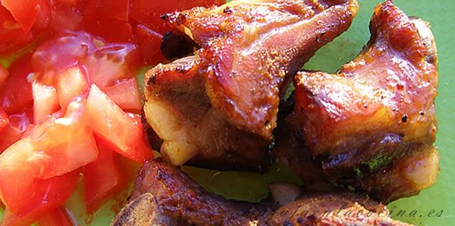 Costillas de cerdo al horno salsa barbacoa