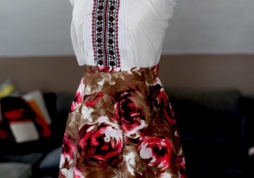 Marusya Marusya Maid of honor dress floral print for ukrainian wedding