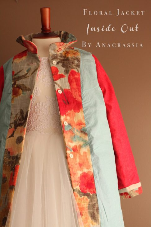 Floral, Easter, Spring, Girls, Children's, Jacket, Coat, Burdastyle, 02/2012, Bright, Colorful, Anagrassia, First Communion, Poppies