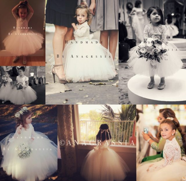 blush nude wedding chantilly ivory lace leotard tulle skirt flower girl dress