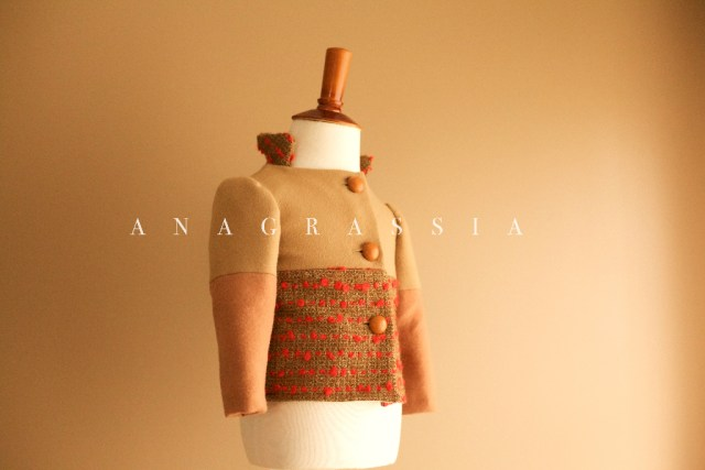 Red, tweed, jacket, wool, cashmere, beige, coat, couture, honey, genuine, leather, cognac, sports, custom, hand, made, anagrassia, color, block, buttons, preppy, prep, sewing, burdastyle, 3/2013, britex, fabric, lined, matching, mother, daughter, bespoke, baby, toddler, girls, south bend, photographer, blogger, fashion, pink, tomato, neutral