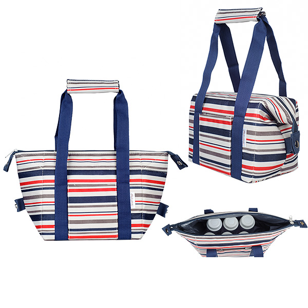 Autumnz - Chic 2-in-1 Convertible Cooler Bag (Red Stripes)