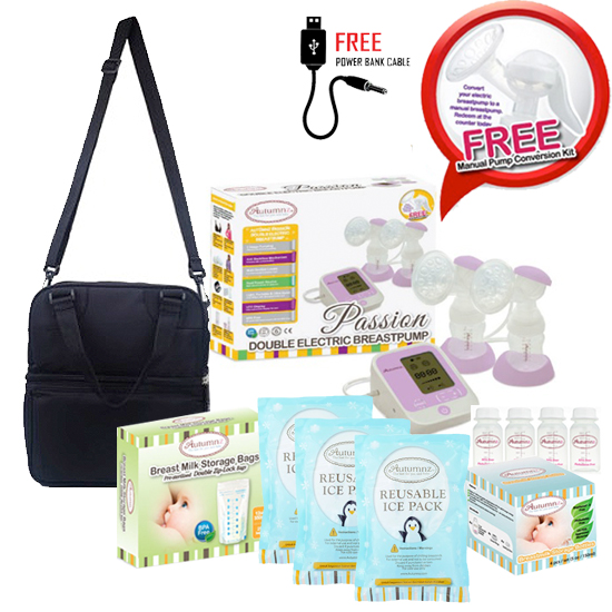 Autumnz - PASSION Convertible Double Electric/Manual Breastpump Package