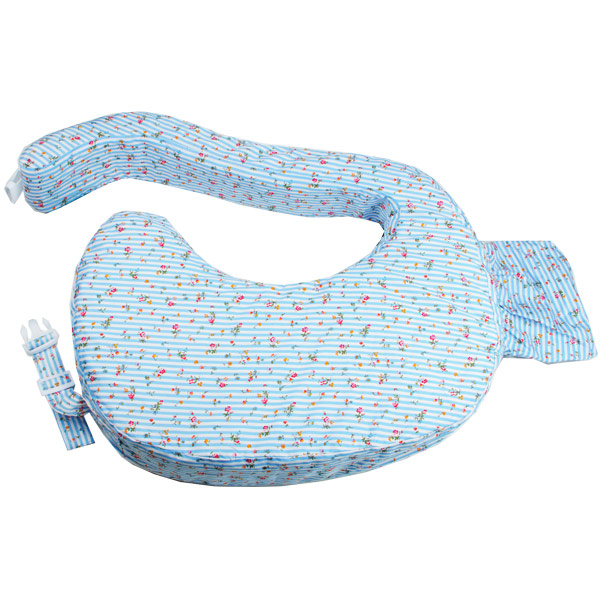 Autumnz - Wrap-Around Breastfeeding Pillow (Rose Buds Blue)