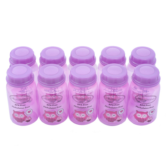Autumnz - Breastmilk Storage Bottles (10 bottles) - Purple Owl