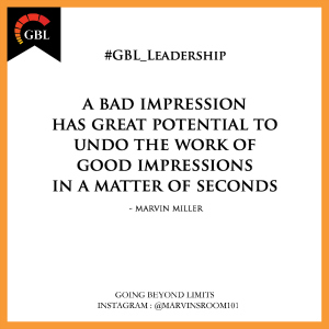 An image with how important good impressions are to leadership