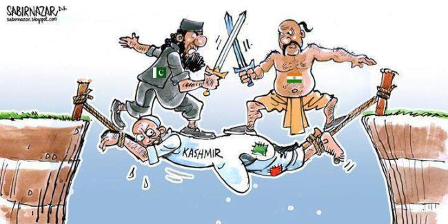 india pakistan kashmir cartoon