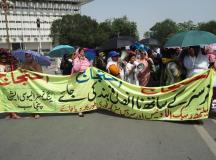 Young Nurses Protest In Lahore 01