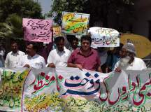 rally against privatization of schools in punjab