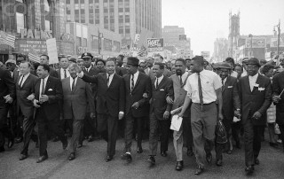 Dr. Martin Luther King Jr. leading-freedom-march-in-Detroit-1963
