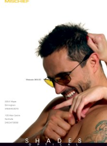Eyewear campaign, part of a series