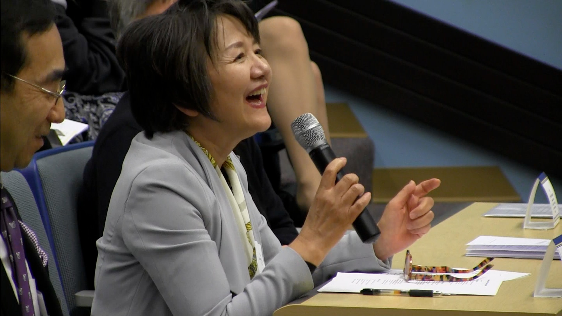 Panel of Judges at the Japanese Speech Competition