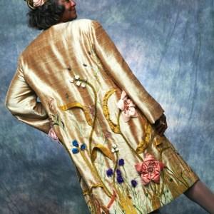 Golden Garden Coat by MaryGwyneth, Back