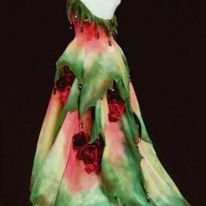 Rose's Edge Gown in Miniature by MaryGwyneth Fine Wearable Art