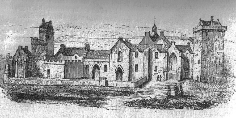 Crossraguel Abbey as it would have looked in the 16th Century, before it was destroyed.