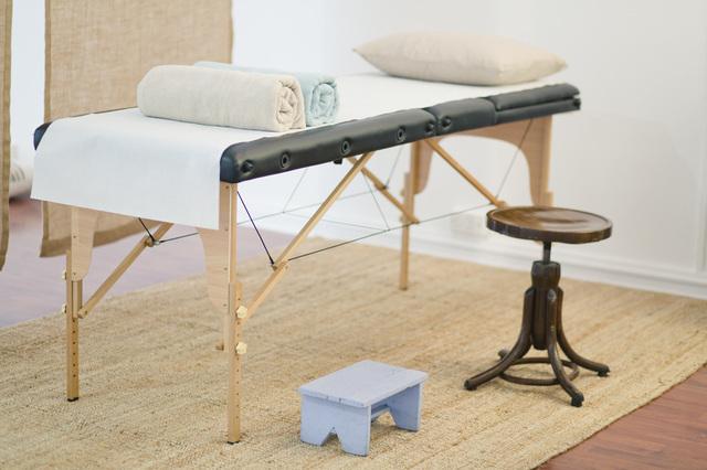 allestire un lettino da massaggio