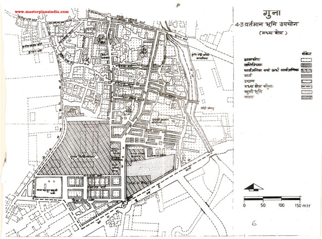 Guna Central Area Existing Land Use Map PDF Download