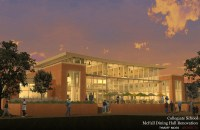 Architectural depiction of the southern end of McFall Hall, post-renovation. Photo Credit: Tymoff Moss Architects via Scott Carson