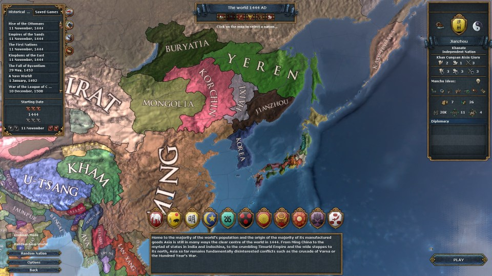EU4 Jianzhou Start