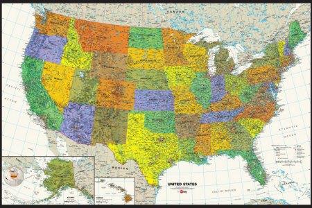 world map of usa