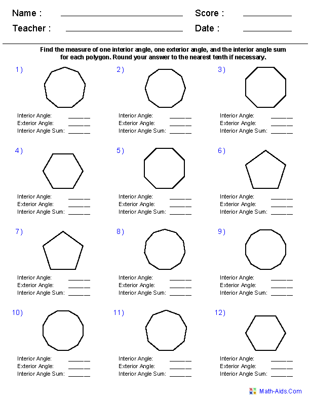 Irregular Polygons Worksheet Worksheet Polygons And